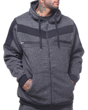 Hoodies - Fleece Hooded Moto Jacket (B&T)