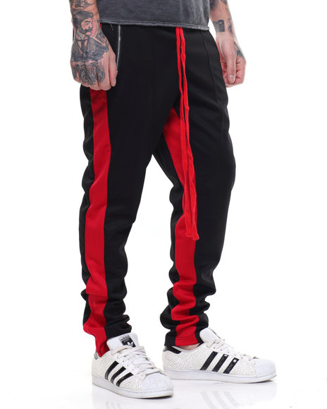 Tricot Dual Strip Track Pant W Elongated String by Buyers Picks