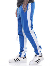Pants - TRICOT DUAL STRIP TRACK PANT W ELONGATED STRING