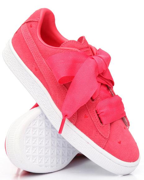 wholesale dealer f50cd b7235 Buy Suede Heart Valentine Jr Sneakers (4-7) Girls Footwear ...