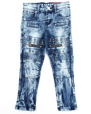 Bottoms - Stretch Moto Studded Jeans (4-7)