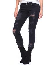 Jeans - Destructed Crop Jean