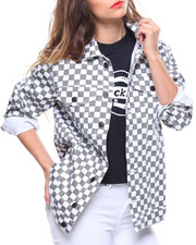 Spring-Summer-W - Checkered Print Jacket