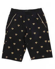 Sizes 4-7x - Kids - All Over Foil Print Fleece Shorts (4-7)
