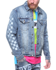 Outerwear - Checker Denim Jacket