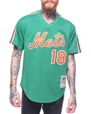 Mitchell & Ness - New York Mets Authentic Mesh BP Jersey - Darryl Strawberry #18