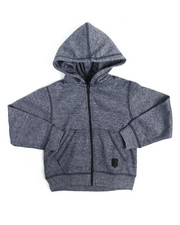 Boys - Yarn Dyed Melange Fleece Hoodie (2T-4T)