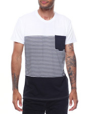 Shirts - POCKET TEE W STRIPES
