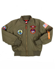 Arcade Styles - Flight Jacket With Patches (8-20)-2188937