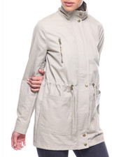 Outerwear - Cotton Parka/Drawstring Waist
