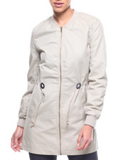 Outerwear - Cotton Bomber/Drawstring Waist