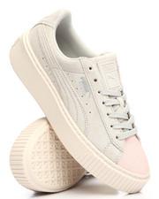 Girls - Suede Platform Glam Jr Sneakers (4-7)