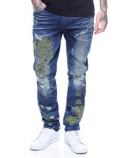 Born Fly - SPIDER VINE EMBROIDERED JEAN