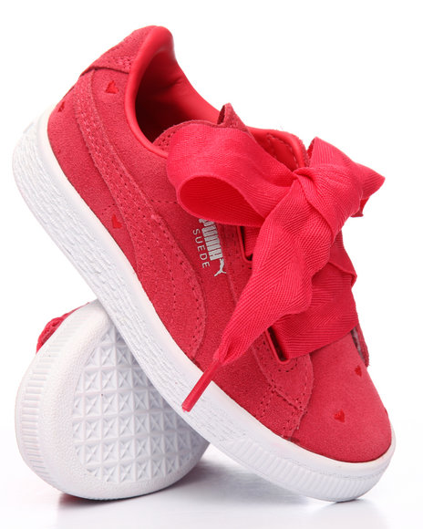 superior quality 0ae87 9416e Buy Suede Heart Valentine PS Sneakers (10.5-3) Girls ...