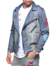 Parish - MOTO EMBROIDERD DENIM JACKET
