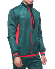Track Jackets - Camo Jacquard Track Jacket