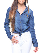 Fashion Lab - L/S Denim Roll Sleeve Shirt