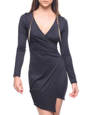 Dresses - L/S Wrap Front Hilo Dress