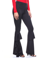 Women - Wide Leg Ruffle Pant