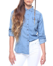 Women - L/S Denim Roll Sleeve Shirt