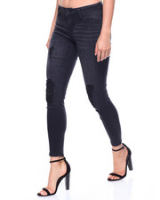 Women - Ripped Ankle Skinny Jean