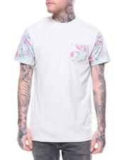 T-Shirts - TROPICAL PRINT POCKET TEE