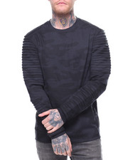 Sweatshirts & Sweaters - CUT & SEW MOTO CREWNECK FLEECE-2192183