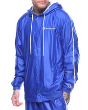 Light Jackets - Logo Side Tapping Coaches Hooded Jacket