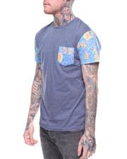 Shirts - TROPICAL PRINT POCKET TEE