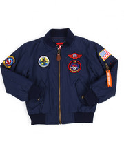 Arcade Styles - Flight Jacket With Patches (8-20)-2190067