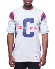 Champion - S/S Heavyweight Football Large C And Script Tee