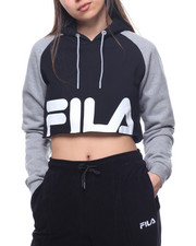 Fila - Luciana Colorblock Crop Logo Sweatshirt