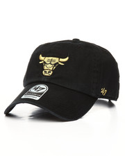NBA, MLB, NFL Gear - Chicago Bulls Metallic Clean Up Strapback Hat