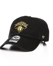 NBA, MLB, NFL Gear - New York Knicks Metallic Clean Up Strapback Hat