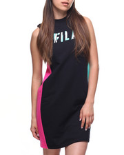 Dresses - Wren S/L Colorblock Side Dress