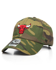 '47 - Chicago Bulls Camo Unwashed Clean Up Strapback Hat-2193895
