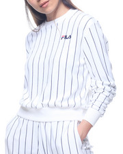 Sweatshirts - Parker Velour Stripe Sweatshirt-2193789