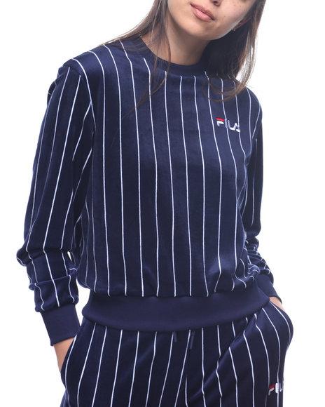 4e46e9bdb19 Buy Parker Velour Stripe Sweatshirt Women s Tops from Fila. Find ...