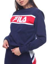 Sweatshirts - Selena Stripe Chest Fleece Sweatshirt-2193861