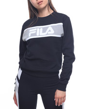 Fila - Selena Stripe Chest Fleece Sweatshirt-2192995