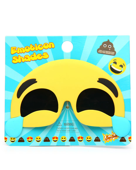 Sun Staches - Laughing Emoji Sunglasses