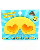 Hearts Eyes Emoji Sunglasses