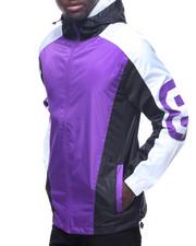 Light Jackets - 8-Ball Color Block Windbreaker Full Zip Hoodie