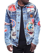Heritage America - DENIM JACKET W ALL OVER PATCHES