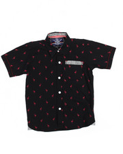 Tops - Flamingo All-Over Print Woven (4-7)