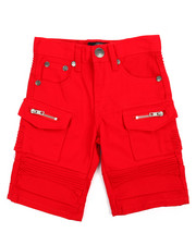 Bottoms - Moto Cargo/Cut And Sewn Knee Shorts (4-7)