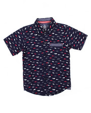 Tops - Shark All-Over Print Woven (4-7)