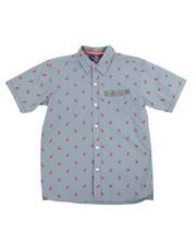 Button-downs - Flamingo All-Over Print Woven (8-20)