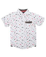 Tops - Shark All-Over Print Woven (2T-4T)