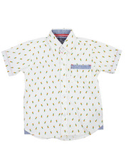 Tops - Pineapple All-Over Print Woven (4-7)